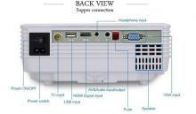 IBS 800 Lumens RD-805 Mini LED TV Smart Lcd Video Home Theater 1080P Movie Cinema Portable Projector(White, Black)
