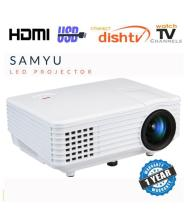 SAMYU Mini LED LCD Video Projector Multimedia Perfect for Home Theater Cinema Entertainment Movie Gaming LCD Projector 1920x1080 Pixels (HD)