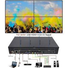 PremiumX TV04 2x2 Video Wall Controller USB+HDMI+VGA+AV TV HDMI With Fully-digital Processing Channel Inside 180 Degree Rotate