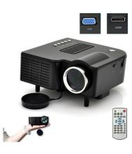 HD 1080P Multimedia LED Projector Home Cinema AV VGA USB SD