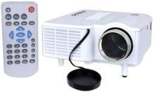 VNEXX UC28 Projector Mini Portable LED 400 Lumens 1080P HD Home Theater Cinema Projectors - White US Plug Portable Projector(White)