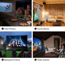 2600lumens 1080PMultimedia Portable HD LED Projector Home Theater Projector