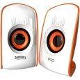 Zebronics Pop 2.0 Multimedia Speaker - White-Orange